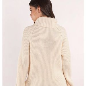 Tobi Turtle Neck Sweater with Lacing on the Sides